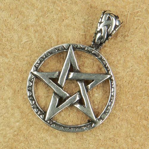 Drudenfuß Schmuck Anhänger aus Silber Pentagramm