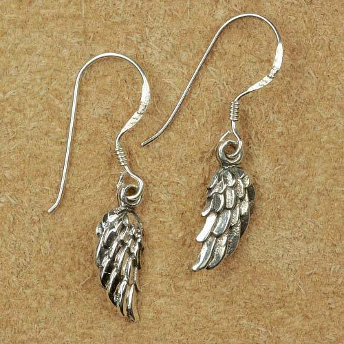Engelsflügel Schmuck Ohrringe Silber