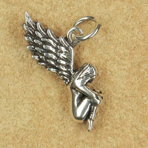 Engel Beschützer Schmuck Anhänger Silber