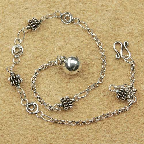 Fußkettchen 925 Silber Schmuck Ornament