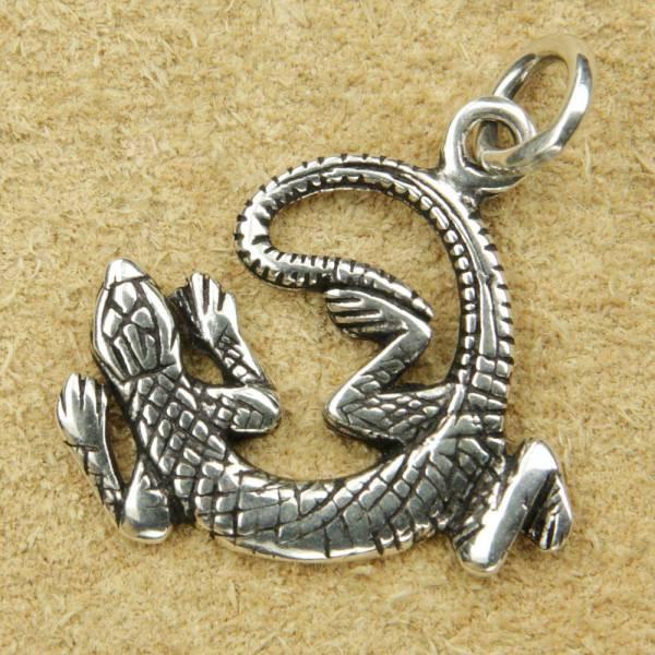 Gecko Schmuck Anhänger 925 Silber