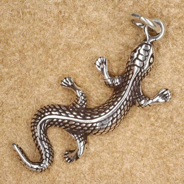 Gecko Schmuck Silber Anhänger Kette