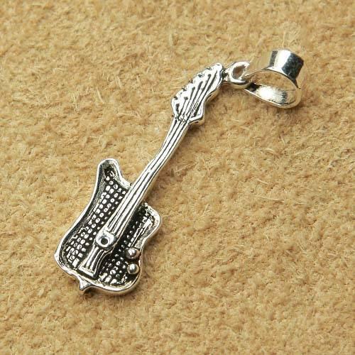 E-Gitarre Schmuck Silber Anhänger