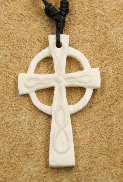 keltisches Kreuz Schmuck Knochen Kette