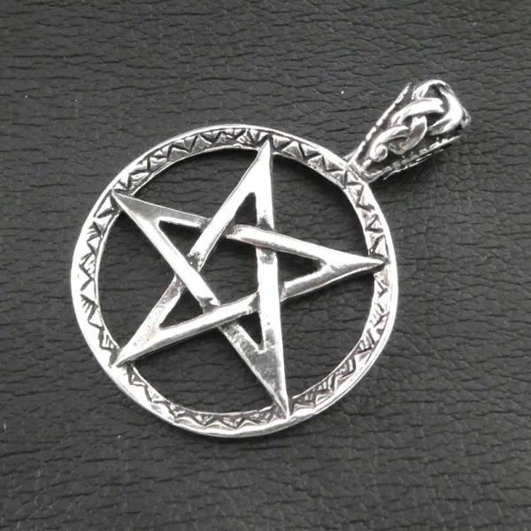 Pentagramm Drudenfuß Anhänger Silber