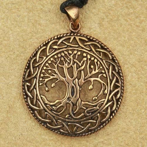 Lebensbaum, keltischer baum Bronze Anhänger