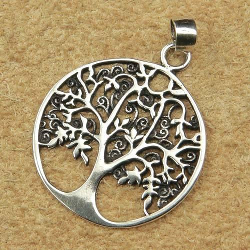 kleiner Lebensbaum Silber Schmuck fein detailreich