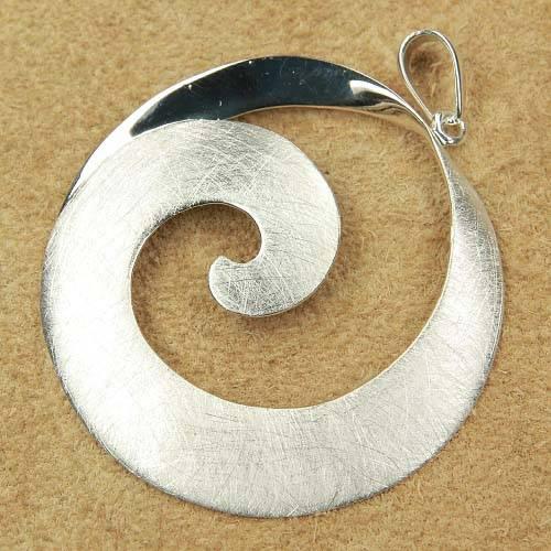 Spirale Schmuck teilweise mattiert