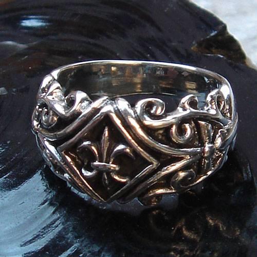Fleur de Lys Schmuck Ring Silber