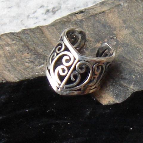 Ohrklemme Ornament Silber Brtschmuck