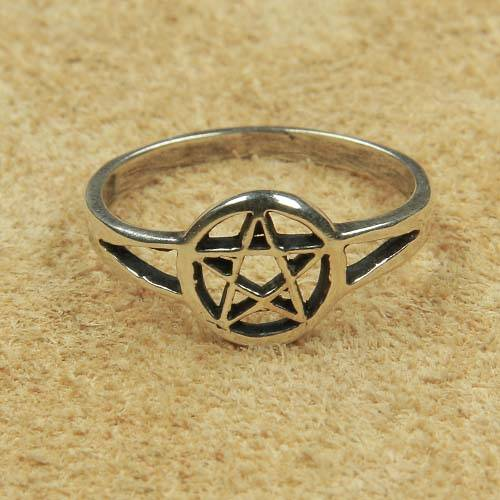 Ring Pentagramm Damenring Schmuck Silber