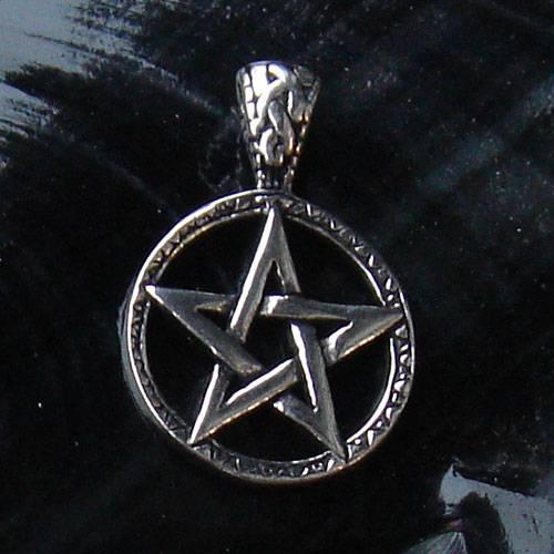 schönes massives Pentagramm Schmuck