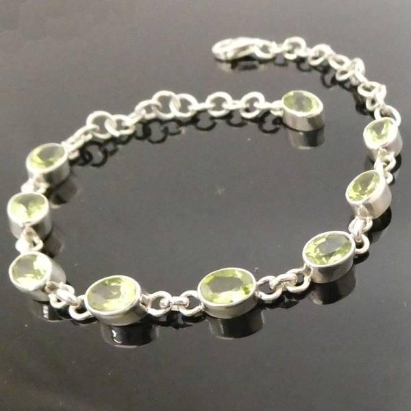 Peridot Armschmuck Silber Armband Damen