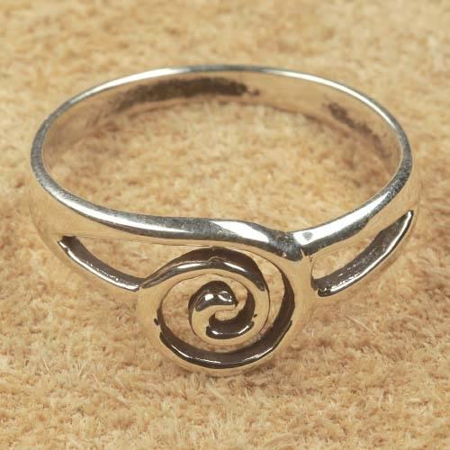Silber Ring Schmuck Spirale