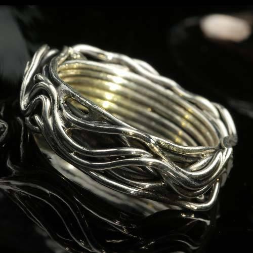Silber Ring Damen ausgefallen