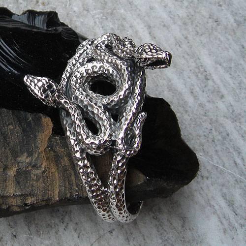 Schlangen Armreif, sehr ausgefallen aus 925 Silber