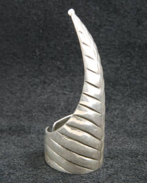 Kralle Ring Fingerspitze lang 925 Sterlingsilber