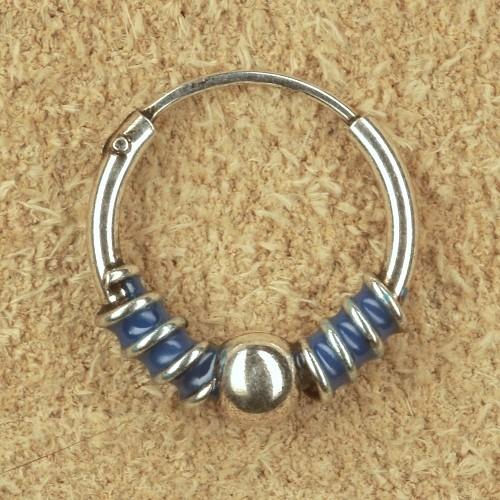 Creole silber blau Ohrring Schmuck