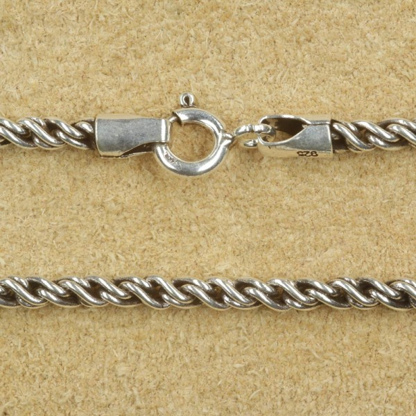 Silberkette massiv gedreht