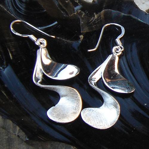 mattierte Ohrringe Silber Ohrschmuck