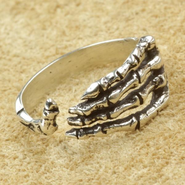 Skeletthand ring Silber