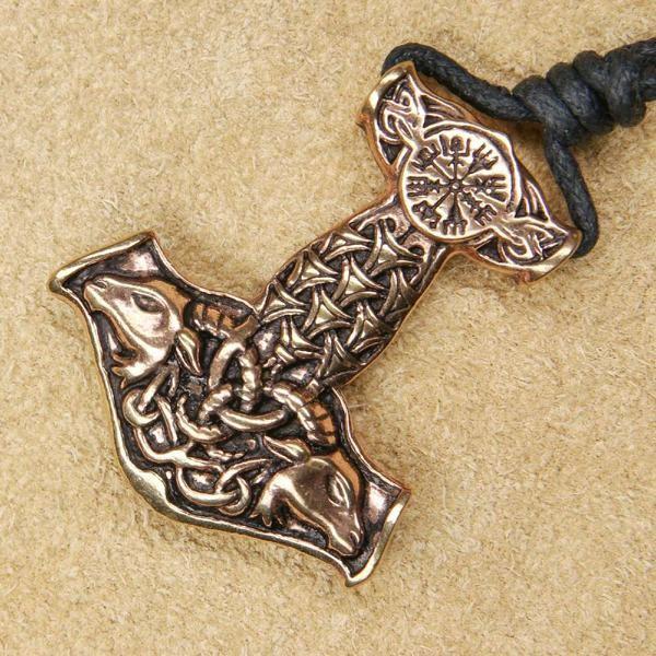 Thor Hammer Anhänger Schmuck Bronze