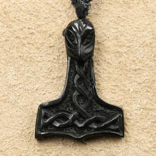 Thors Hammer Hornschmuck Kette