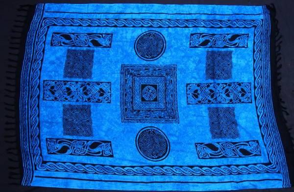keltisches Tuch 160 cm x 110 cm blau