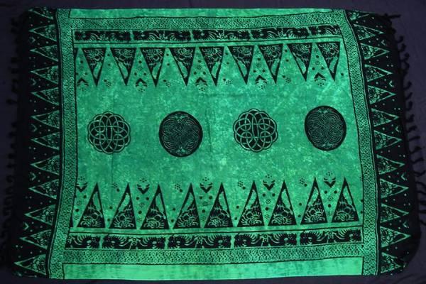 Kelten Tuch grün Deko