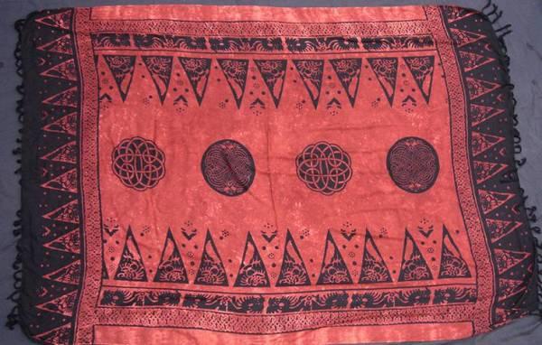 rotes Tuch keltisch Dekotuch