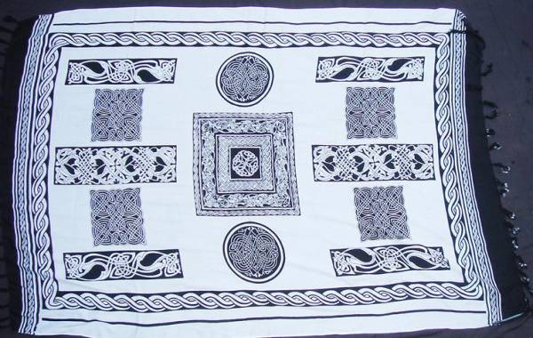 keltisches Tuch weiß Dekoration