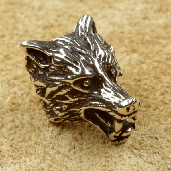 Bartperle Wolf Silber