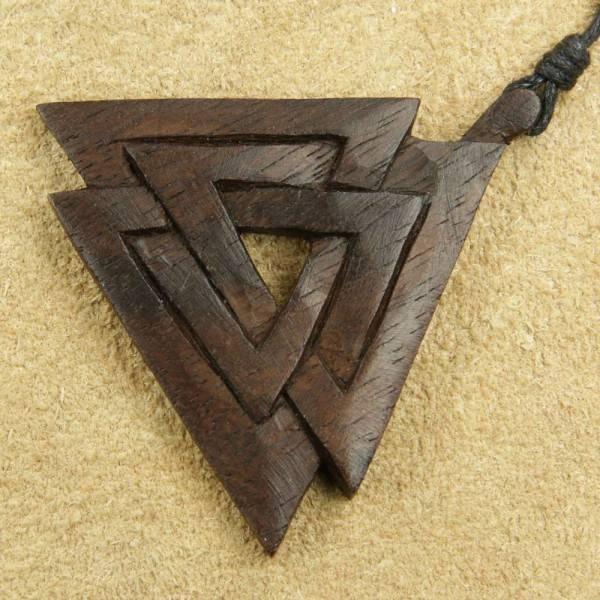 Wotans Knoten keltischer Schmuck Holz