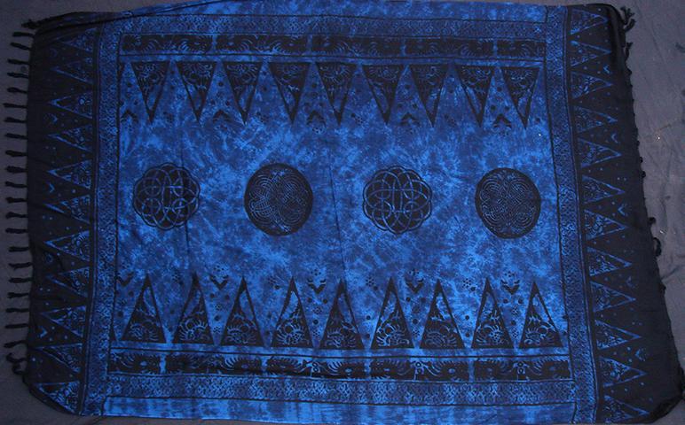 Tuch blau Kelten Design