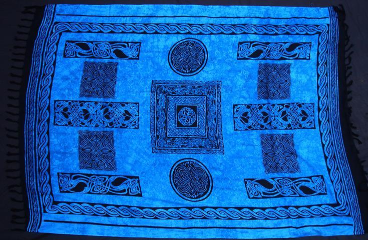 Tuch keltisch blau