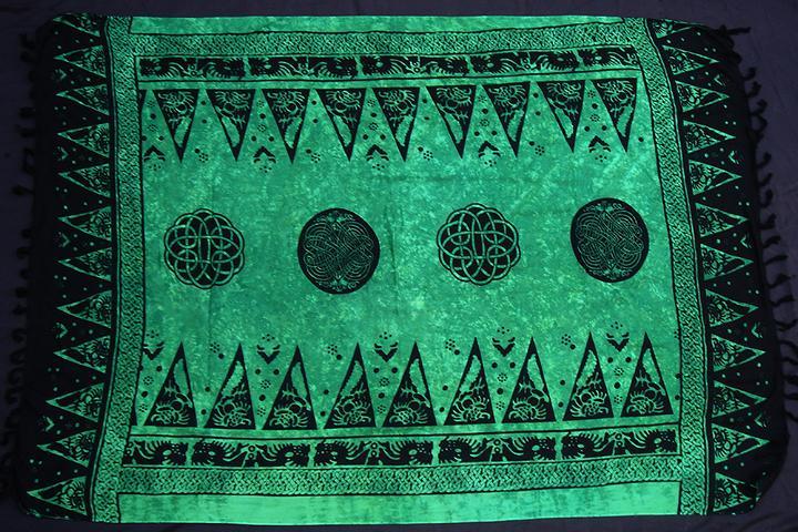 Tuch keltischer Drache grün